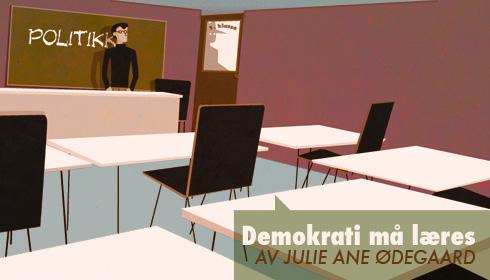 Demokrati må læres: om politisk oppdragelse iskolen