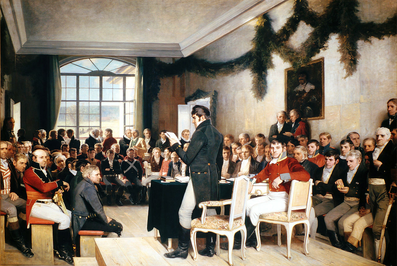 Oscar Wergeland: Riksforsamlingen på Eidsvoll 1814.