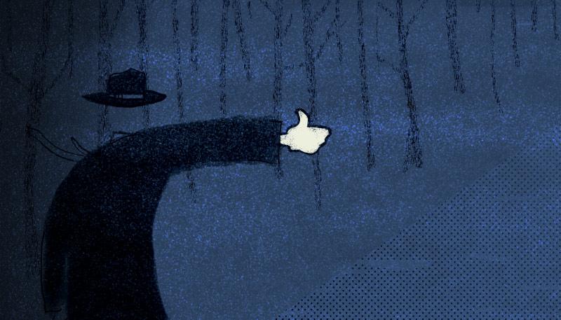 En av illustrasjonene Håvard Legreid laget til Facebook-serien.