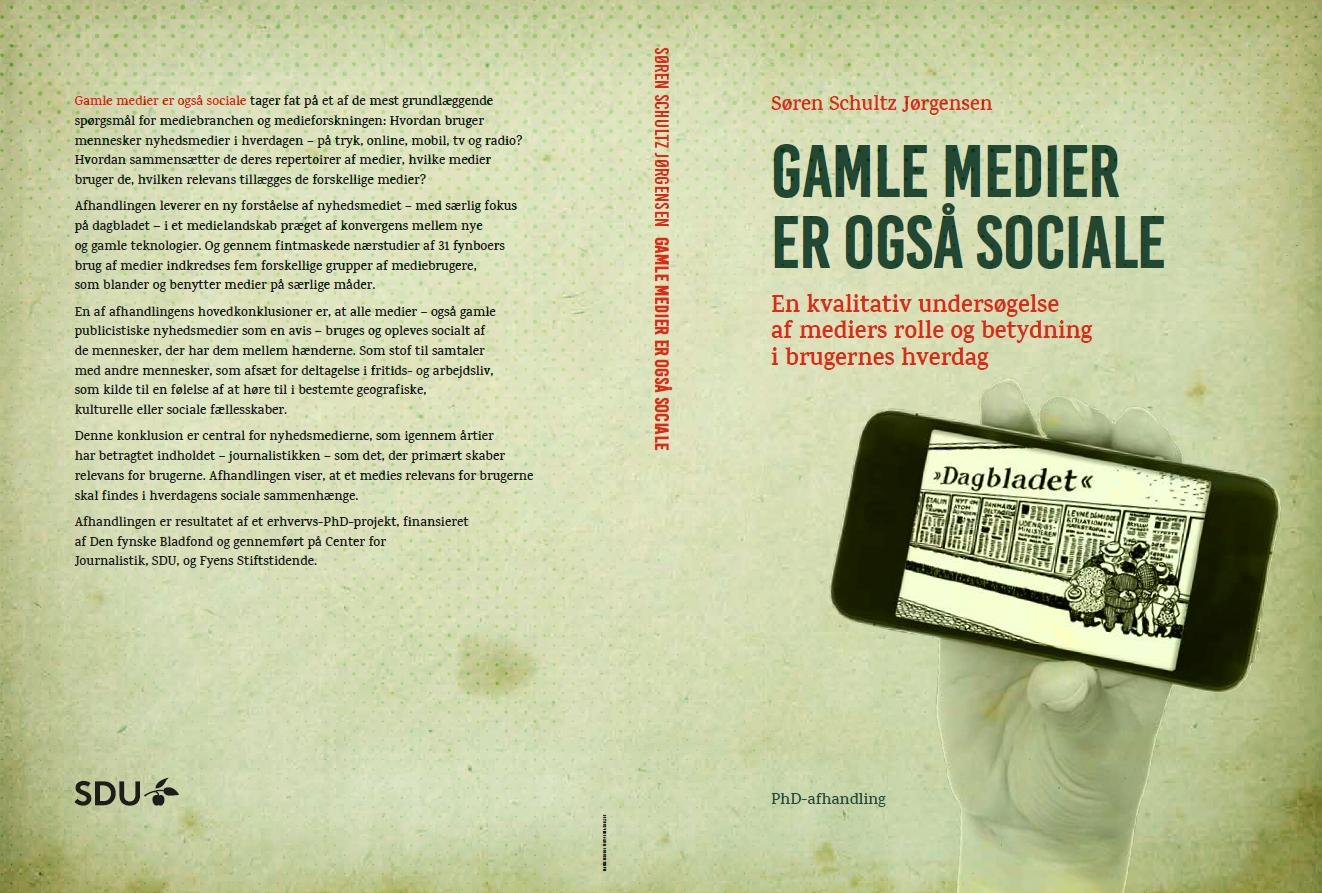 De første sosiale mediene: Omslaget til Søren Schultz Jørgensens avhandling.