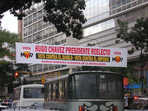 Valgplakat for Hugo Chavez 2006. Foto: blmurch