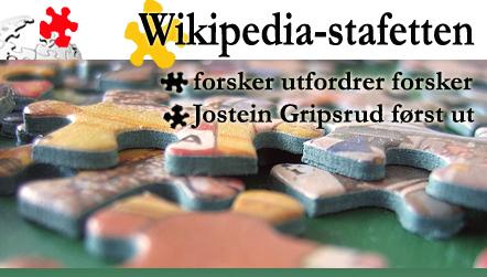 Wikipedia-stafetten -- forsker utfordrer forsker