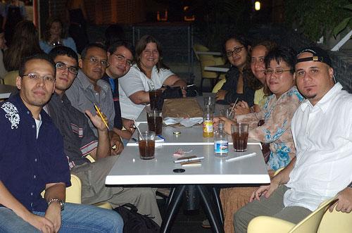 En gruppe bloggere i Venezuela samlet i september 2006 (foto: oso)