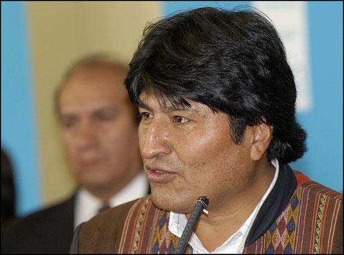 Evo Morales (foto: Alain Bachellier)