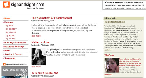 Skjermbilde fra signandsight.com