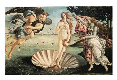 """""""Venus fødsel"""" av Botticelli (foto: www.cavazza.it)"""