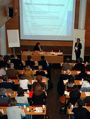 Kina-seminar Norsk institutt for menneskerettigheter mars 2008 (foto: Christian Boe Astrup)