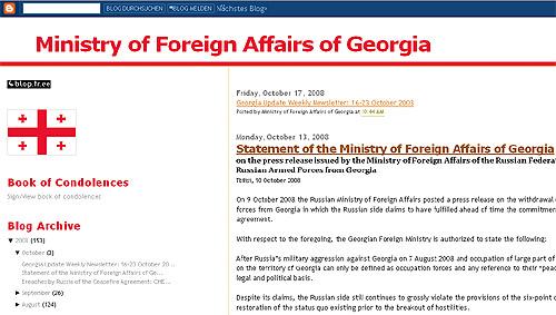 Georgias utenriksdepartement opprettet blogg