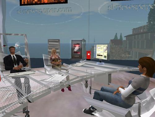 Lokalene til SL Newspaper (ill: Second Life/Kristian Jensen)