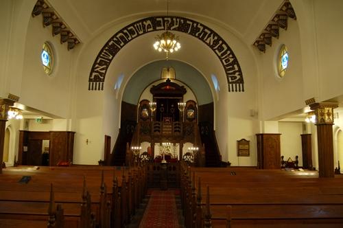 Trenger religioner vern mot hatefulle ytringer? Interiør fra synagogen i Oslo (foto: Olav A. Øvrebø).