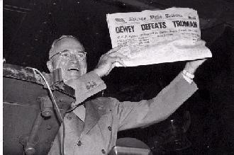 Truman overrasket meningsmålerne (foto: Harry S. Truman Library and Museum)