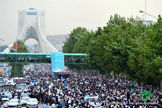 Fra protestene i Iran i juni 2009.