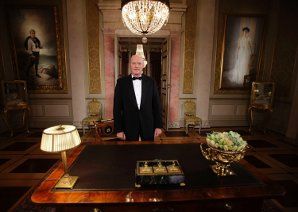 Kongen i forbindelse med sin nyttårstale 2009