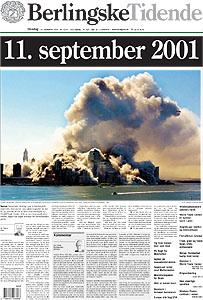 Billede 4. Forsiden af Berlingske Tidende 12. September, 2001