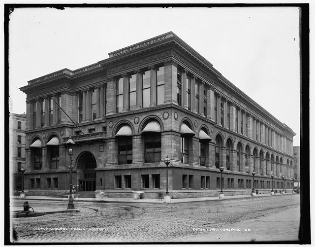 Chicago Public Library, bildet tatt mellom 1890 og 1901 (foto: Library of Congress)