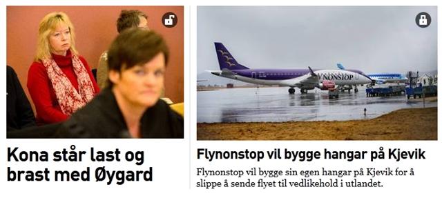 Hengelåser på Fædrelandsvennens nettutgave (skjermbilde fra 30. april 2013).