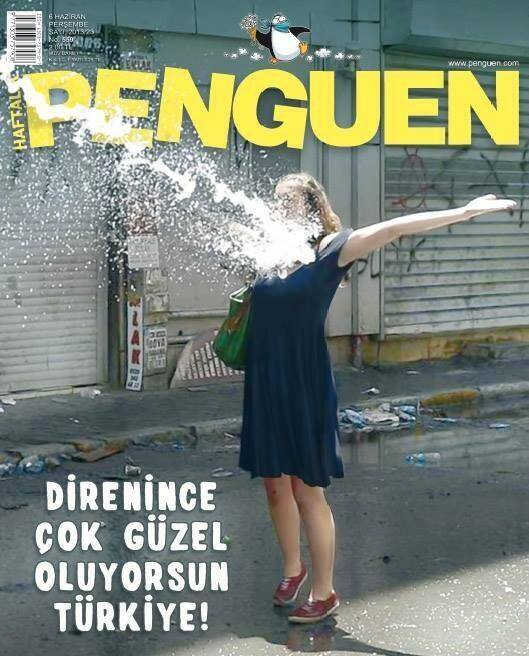 """Turkey: You are beautiful when you are angry"": Cover of the weekly humor magazine Penguen."