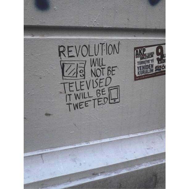 A graffiti from Istanbul.