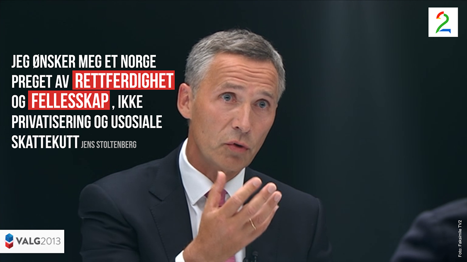 Hentet fra Arbeiderpartiets Facebook-konto. Trykk for større versjon.