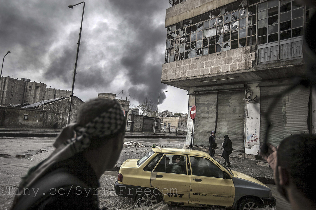 Aleppo i desember 2012 (foto: Syria Freedom. CC: by)