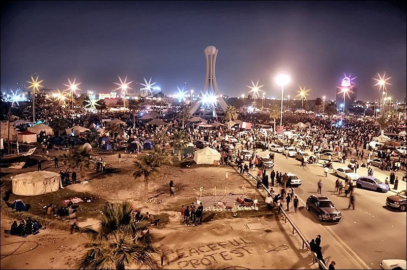 The Pearl, et sentrum for protestene i Bahrain (foto: Bahrain in Pictures. CC: by-sa)