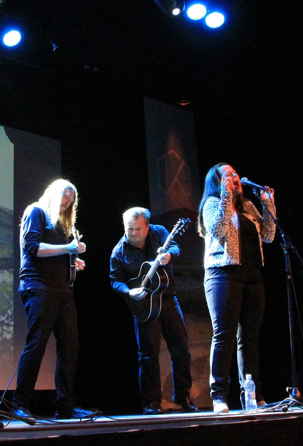 Veronica Akselsen opptrådte på Verftet (foto: Cecilie Breivik Hansen).