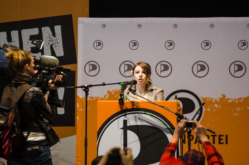Marina Weisband, en av Piratpartiets stjerner (foto: Bastian Haas, CC:by-sa)