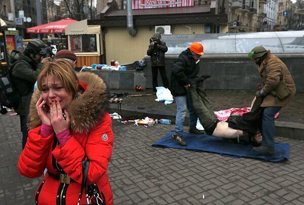 """Dette bildet ble 20. februar 2014 lagt ut av Twitter-brukeren Euromajdan med kommentaren: """"I really don't know what to say."""""""