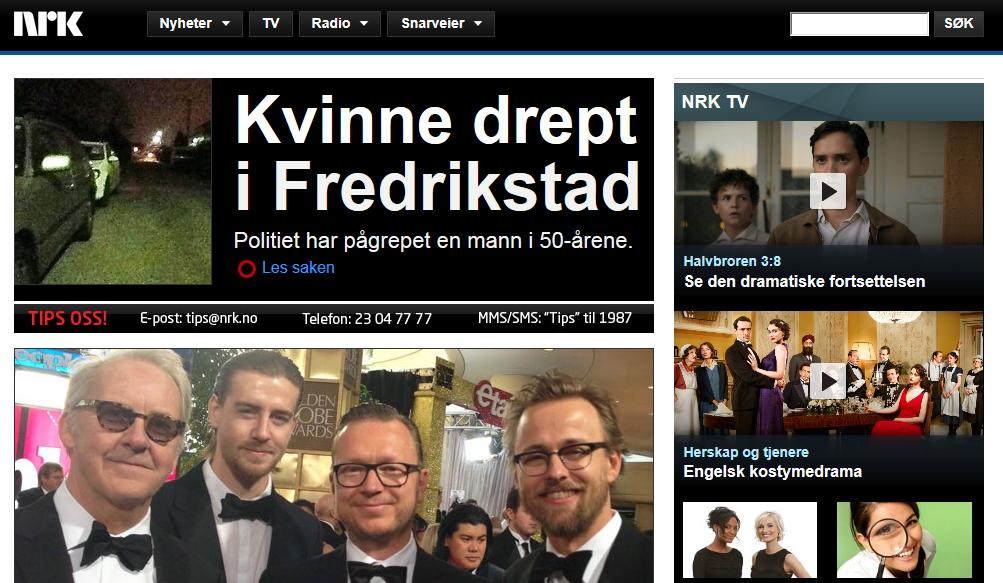 Skjermbilde nrk.no, 14. januar 2013.
