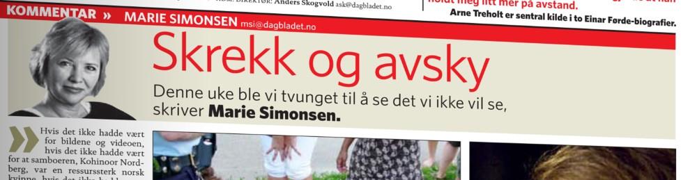 Faksimile fra Dagbladet 11. august 2007 (ill: Dagbladet/NRK)