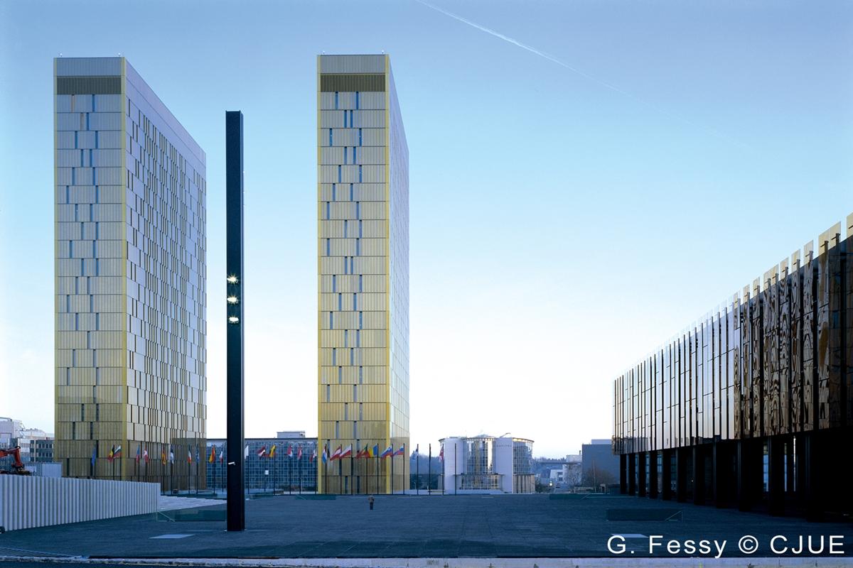 EU-domstolens bygninger i Luxembourg (foto: EU-domstolen).