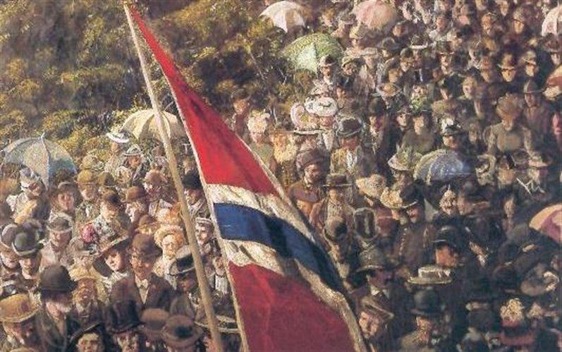 """""""17. mai 1893"""" av Christian Krohg"""
