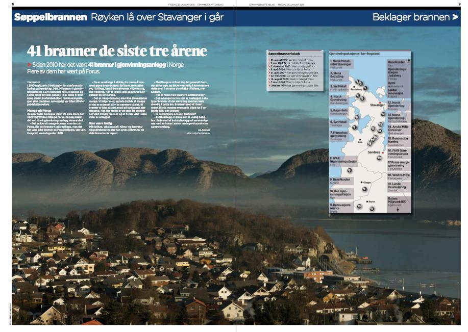 Oppslag i Stavanger Aftenblad 25. januar 2013.