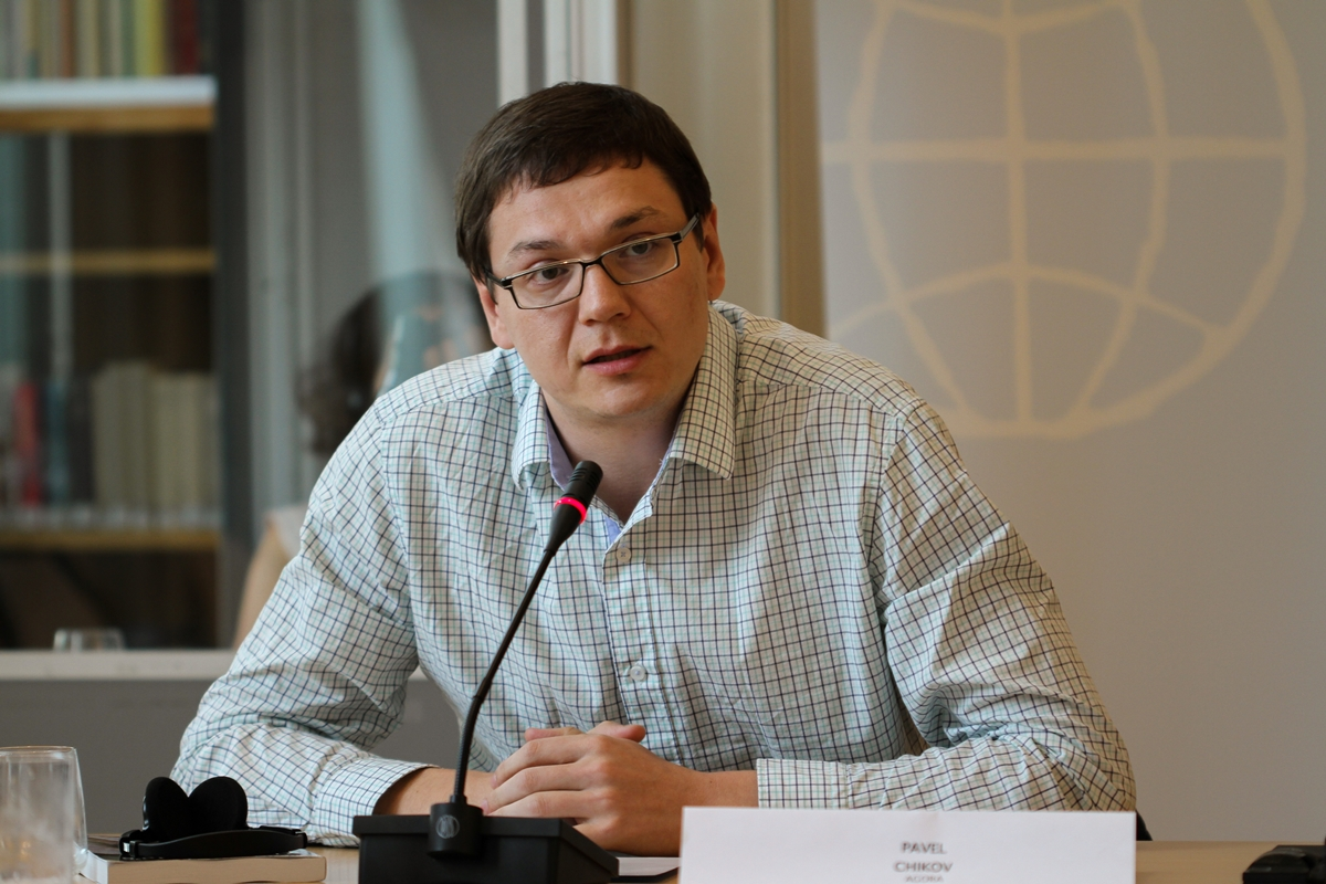 Agoras leder Pavel Tsjikov (foto: Den norske Helsingforskomite)