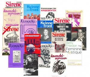 En stor feministisk tidsskriftflora vokste frem i Norge på 1970-tallet.