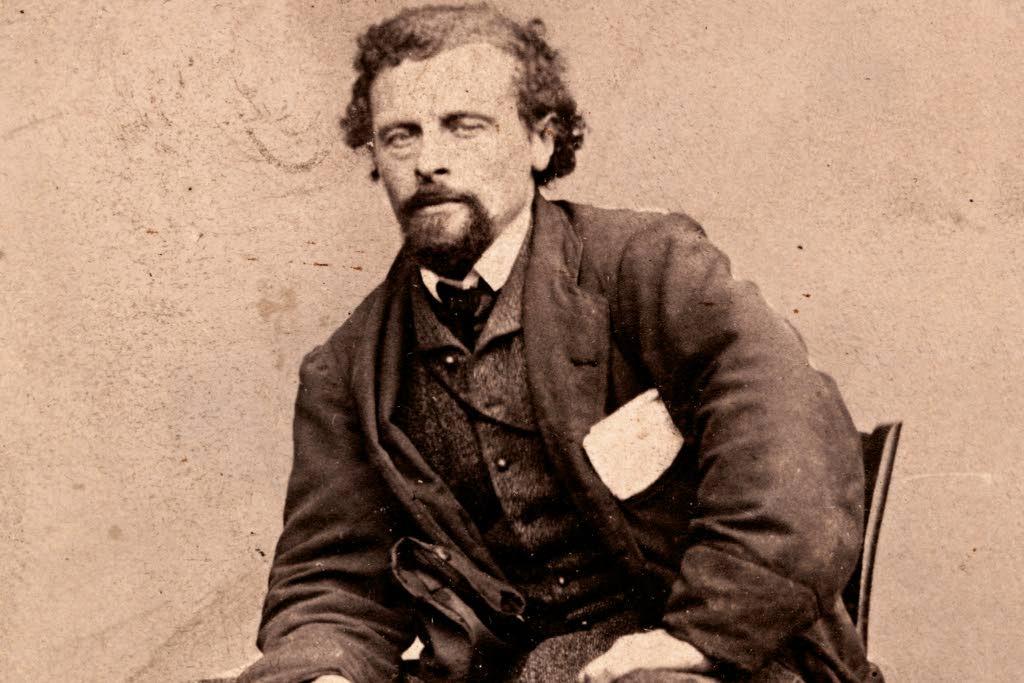 Marcus Thrane (1817-1890). Bildet er trolig tatt etter at Thrane var blitt løslatt fra fengselet i 1858.