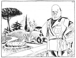 Jeg kan sagtens more mig over en god karikatur af mig selv, men Hitler er en fornærmelse. (Ragnvald Blix, Ragnvald og Ida Blix' fond)