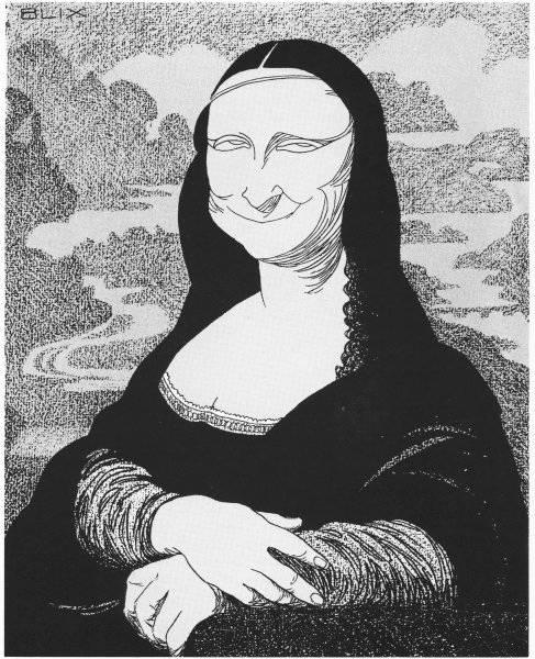 Mona Lisa (Illustrasjon: R. Blix / Ragnvald og Ida Blix' Fond)