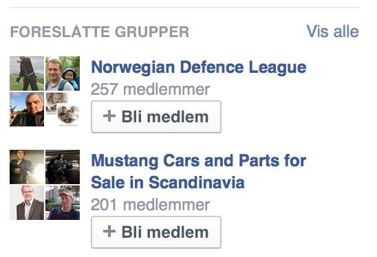 Amcar og NDL-medlemskap? Annonser Facebook serverte artikkelforfatteren.