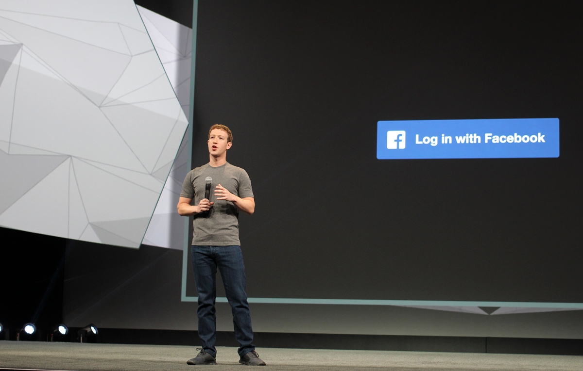 Facebook-sjef Mark Zuckerberg under selskapets konferanse F8 i april 2014.