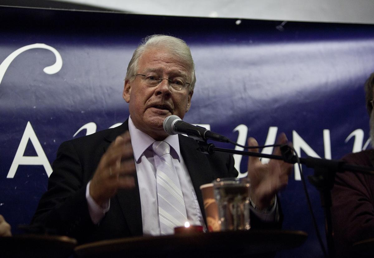 Carl I. Hagen under eit debattmøte i Bergen i 2012.