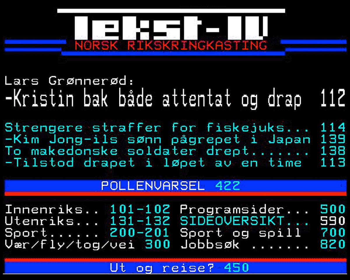 I NRK går det fortsatt gjetord om den gangen Dagsrevyen ringde politiet for oppdaterte ulukkestal, og vakthavande oppgav tala han fann på Tekst-TV.