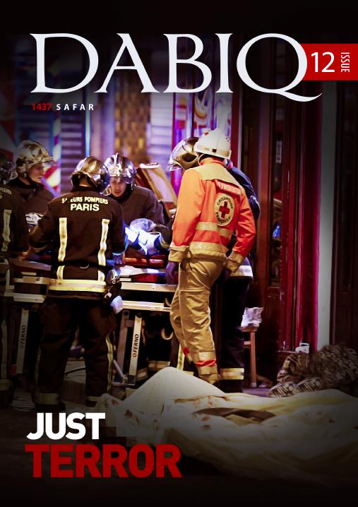 Dabiqs tolvte utgave feiret de dødelige terrorangrepene i Paris i november 2015.