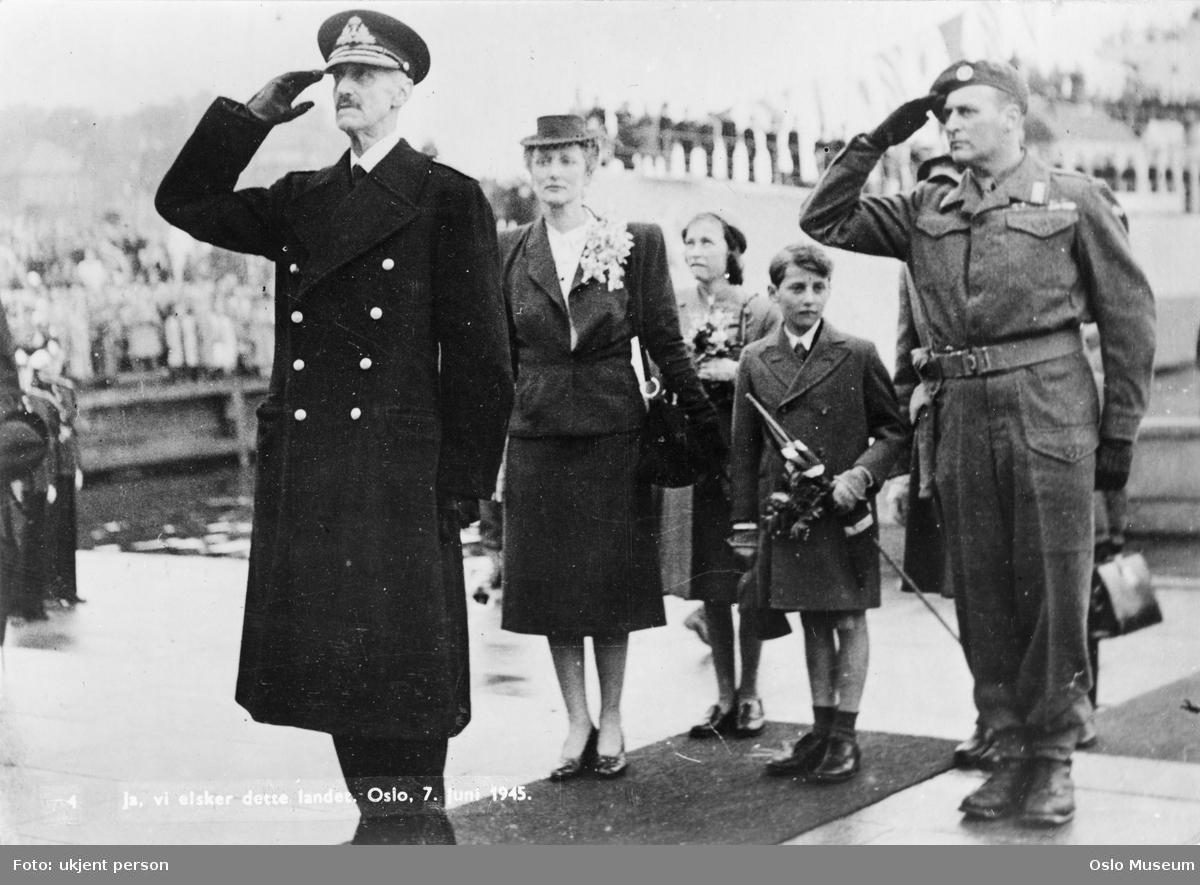Oslo, 7. juni 1945: Kong Haakon vender hjem fra eksilet i Storbritannia.