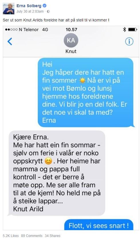 Alvorspraten på SMS