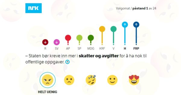 NRKs valgomat – norske konfliktaksar og læring undervegs
